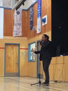 Deneze at Thomas Simpson School, Fort Simpson, NT
