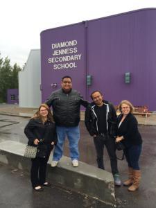 Jennifer Houseman, Howie Miller, Dëneze Nakehk'o and Treena Riles