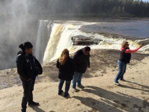 Deneze, Jennifer, Howie and Treena at Alexandra Falls